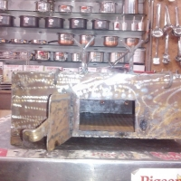 coal griller iron body