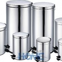 steel dustbin with  paddel